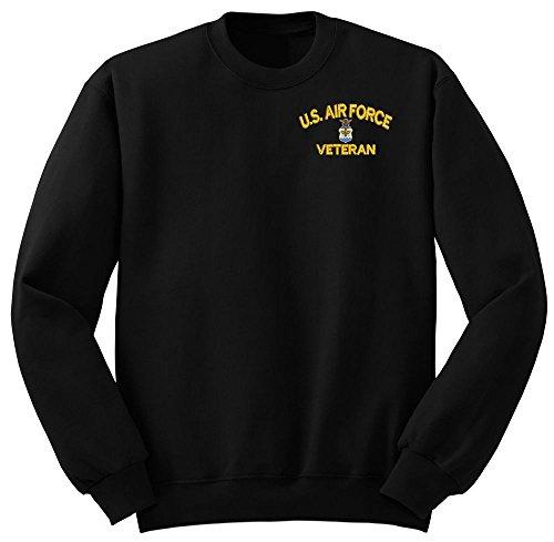 (USAF U.S.Air force Veteran Military Crew Neck Sweatshirt Large)