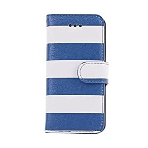 LIMME Rainbow Stripe PU Leather Protective Full Body Case with Card Slot and Stand for iPhone 5/5S(Assorted Colors)