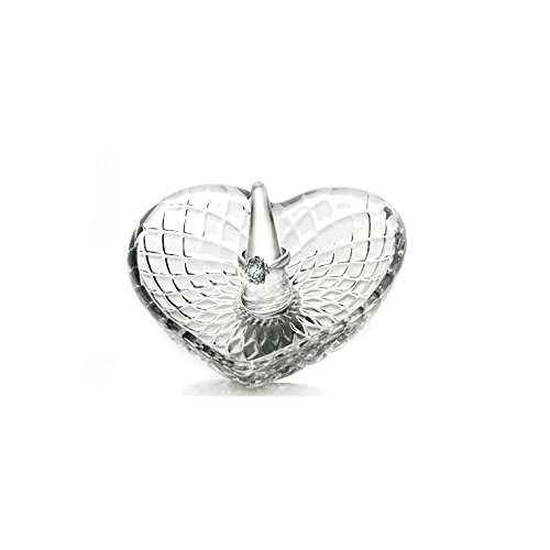 Fifth Avenue Crystal Heart Shape Glass Ring Holder