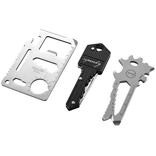 Credit Card Tool Gifts Set with Wallet Tool Card,Key Knife,Key Chain Multi Tool,for Men & DAD & Brother & Father's Day & Christmas Stocking Stuffers - 3 Type/Set Pocket Tool in Gift Box