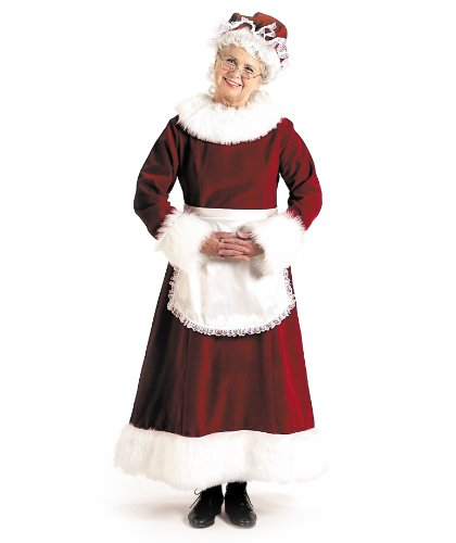 [Mrs. Claus - Large - Dress Size 12-14] (Mrs Santa Halloween Costume)
