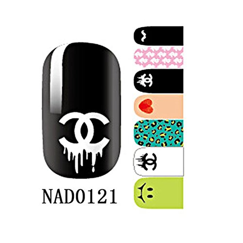 1 Pack Brainy Nail Art Stickers Self Adhesive Water Transfer Glitter Tips Style Code - Glasses With Cartier Diamonds