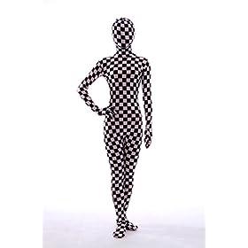 - 41OR2yrF1KL - Nedal Checkered Bodysuit Costume For Women Halloween Onesie Lycra Zentai