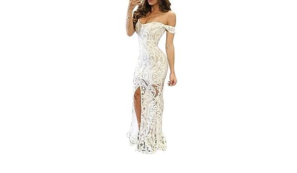ZSRHH-Falda Vestido de Mujer Cóctel Dividido Vestidos Largos de ...