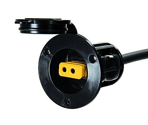 Flush Outdoor Collection (Cannon Flush Mount Power Port (Black))