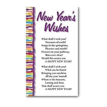 Amazon.com : New Year\'s Wishes (Packet of 100, KJV) : Office Products