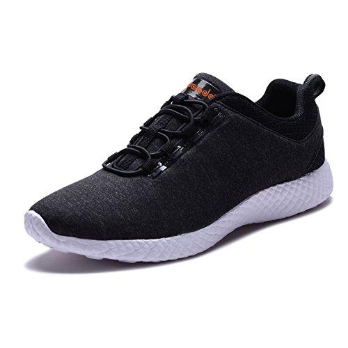 COODO - Zapatillas de running para mujer negro