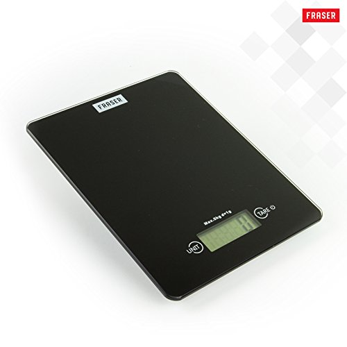 Fraser Kitchen and Food Scale for Precision Digital Measuring of Culinary / Baking Ingredients or Dieting - Displays Grams, Ounces and Pounds - 11 lb Capacity - Home Cook Holiday Gift
