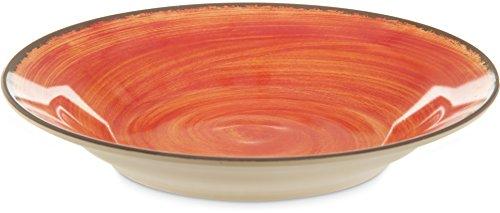 Carlisle 5400352 Mingle Melamine Rimmed Soup Bowl, 28.5 oz, Fireball
