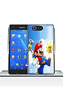 Sony Z3 Compact Funda Case - Game Super Mario Sunshine Ultra Slim Glam Personalized Colorful Paint Attractive Design Scratch Resistant Back Funda Case Cover For Sony Xperia Z3 Compact [Just fit for Z3 Compact]