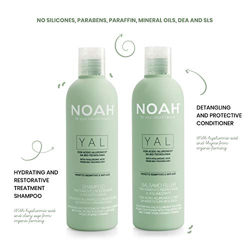 NOAH Yal Thyme + Hyaluronic Acid Shampoo and Conditioner Set, Cruelty Free, Vegan, Anti-aging, Detangling, Fortifying and Moisturizing - Hair Care for Natural Beauty - 8.5 fl.oz (250 ml) Each from NOAH for your natural beauty