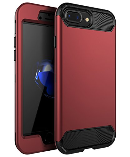 iPhone 7 Plus Case,iPhone 8 Plus Case,KAKA[Heavy Duty]Three Layer Hybrid Sturdy Armor High Impact Resistant Protective Cover Case For iPhone 7 Plus /iPhone 8 Plus(Only For 5.5''),Blush Gold/Black by KAKA