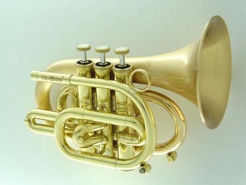 Carol Brass Pocket Trumpet CPT-3000-GLS-SLB by Carol Brass