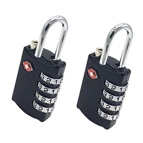 TSA Approved Luggage Locks 4 Digit Combination Padlocks Travel Locks 2 Pack for Suitcases and Baggage