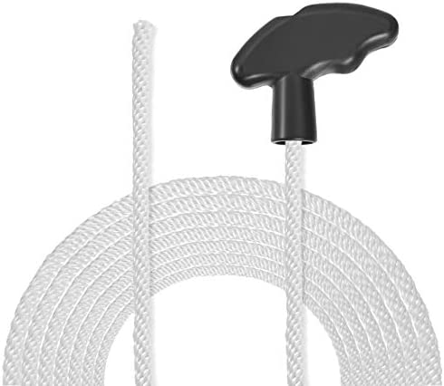 sourcing map 5Stk. Rückstoß Anlasser Seil mit weichem Griff 5mm Dmr. 1,4m 4,6ft Nylon Zugschnur für 173F 188F 190F Rasenmäher Trimmer Kettensäge Motor Teil