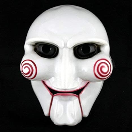 Decoracion Ideal para Halloween, Adulto Unisex Halloween Billy The Puppet Saw Terror Theme Máscara de