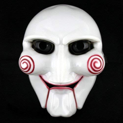 Zhoyea Durable Adult Unisex Halloween Billy The Puppet Saw Terror Theme PVC Mask -