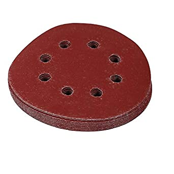 800# 10pcs Round 8 Hole Sanding Discs 125mm Red Grit Sand Papers