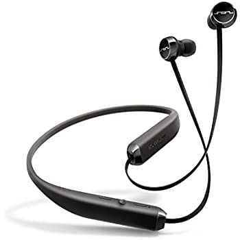 SOL REPUBLIC 1140-01 Shadow Wireless In-Ear Headphones with noise isolation and extended 8 hour battery, Black/Silver