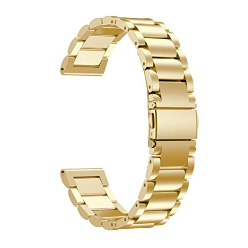Price comparison product image Alonea Stainless Steel Watch Bracelet Band Strap For Garmin Forerunner 935 Watch (Gold)