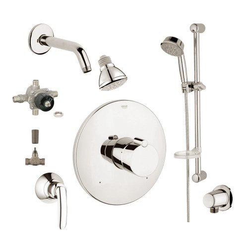 Grohe 2WVC-TEBN Custom Shower 2-Wall Volume Control System