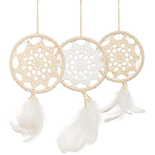 Ling's moment Mini Dream Catchers, Boho Wedding Party Favor,