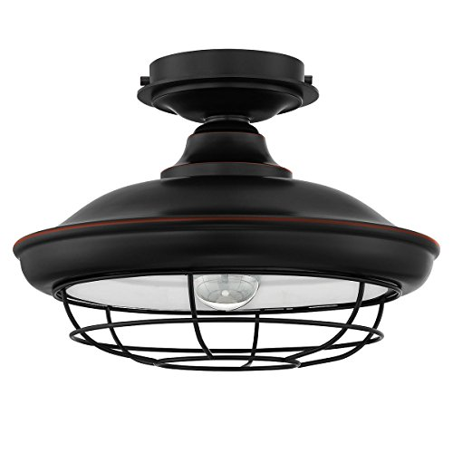 (Designers Impressions Charleston Oil Rubbed Bronze Semi-Flush Mount Ceiling Light Fixture: 10001 )