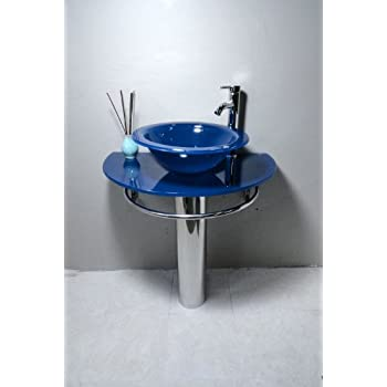 bathroom vanities vessel sinks home depot pedestal glass blue sink combo faucet vanity with lowes small