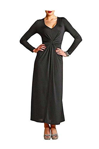 APART Damen-Kleid Kleid mit Raffungen Schwarz Größe 36