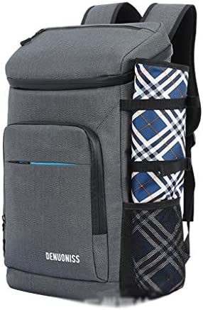 RUIXFAP Multifunctional Lunch Backpack Picnic Backpack Insulated Cooler Bag Rucksack Soft Reusable Waterproof Lightweight Insulated Backpack for Camping Fishing Barbecues Daypack Durable