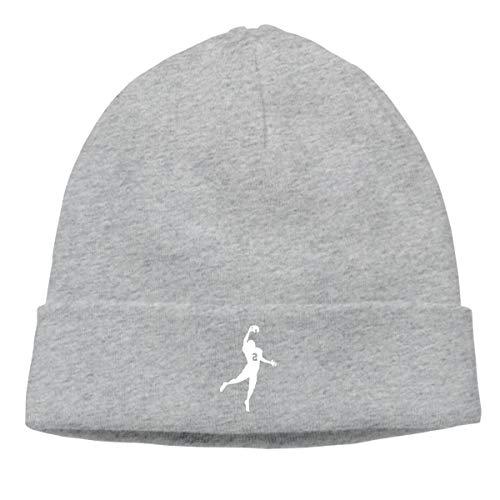 Men's Winter Warm Cuffed Plain Knit Hat Cap C-harles W-ood-son Hedging ()