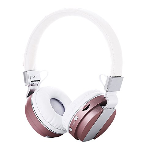 Price comparison product image Over Ear Headphones,  Bluetooth Wireless Headset 4.2,  Hifi Stereo Deep Bass Earphone with TF Card FM Radio Foldable & Lightweight Design. Wired Wireless & Mode for iPhone,  iPad,  TV Table (pink)