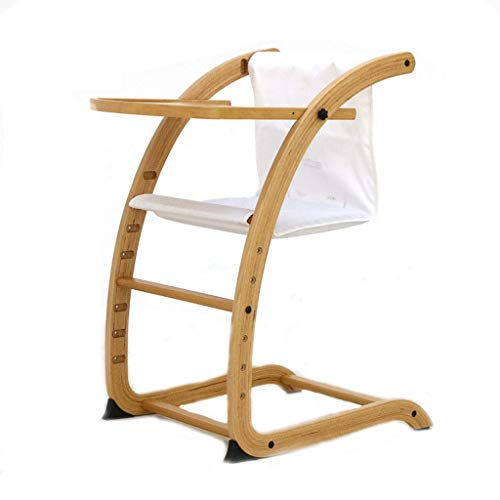 Economical Stacking Chairs - A&DW Portable Infant Highchair,Children's Dining Chair with Tray,Ergonomic Design Baby Cradle Recliner,White