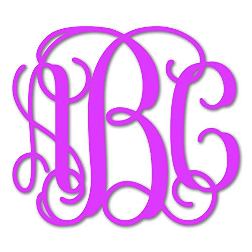 Custom Personalized Vine Monogram Initial Vinyl Decal Bumper