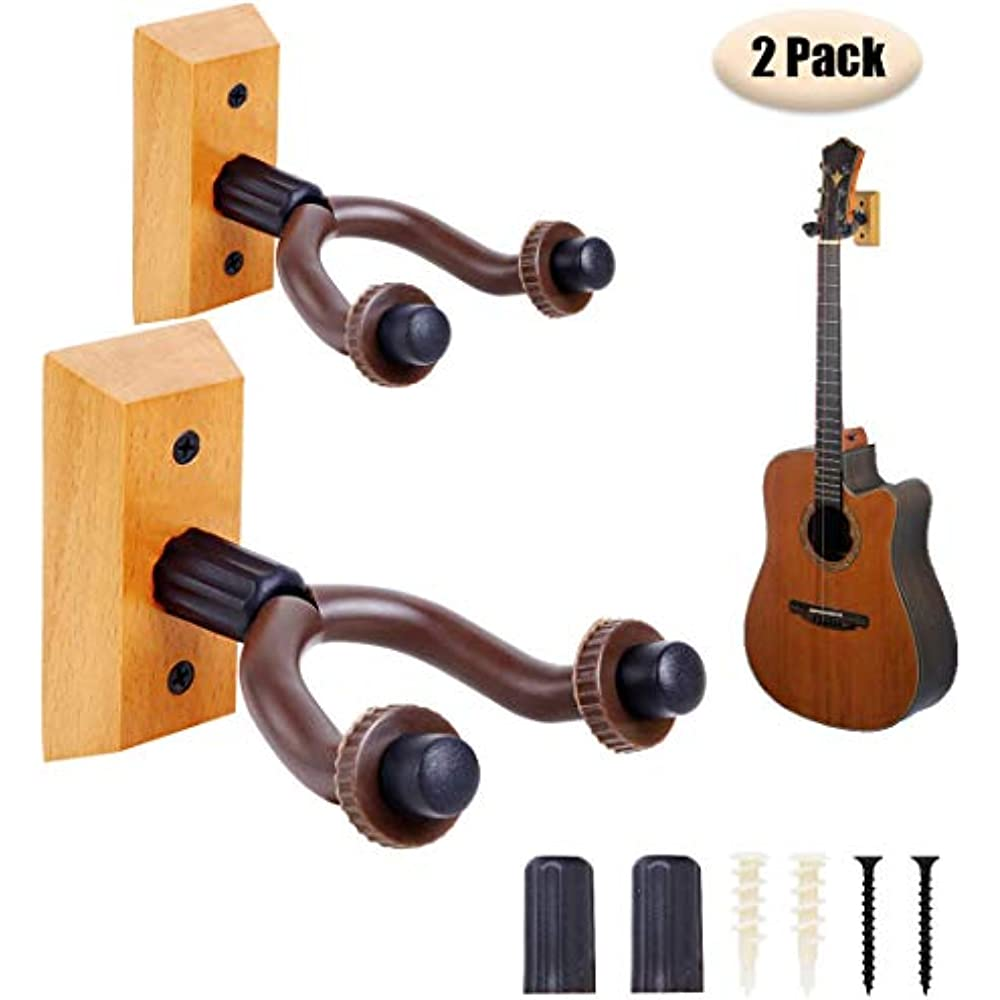 Guitar Wall Mount Hanger 2 Pack Hook Durable And Easy To
