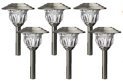 NORTHERN INTERNATIONAL TV28568SS6 FS Stainless Steel Sol Path Light, 6-Pack