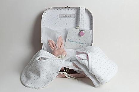Regalo hecho a mano bebé Niña - Maleta regalo rosa con Capa de ...