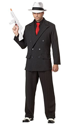 [POPLife Mob Boss Adult Costume Al Capone Gangster Style] (Puttin On The Ritz Costumes)