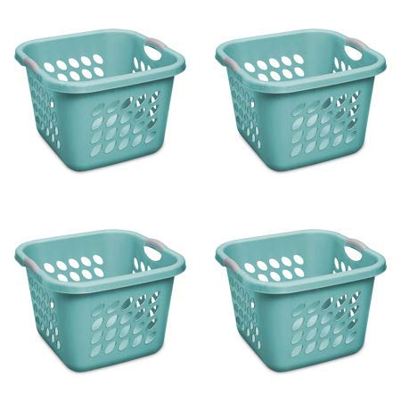 STERILITE 1.5 Bushel Square Ultra Laundry Basket, Teal Splash (4 Units) ()
