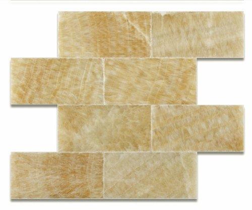 Honey Onyx 3 X 6 Polished Premium Brick / Subway Tile - 2-pcs. -