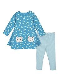 Gerber - Conjunto de Vestido y Leggings para niña