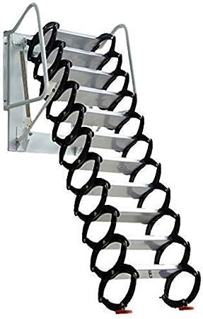 Z6 Home Escalera Extensible Plegable para Interior, Escalera de ático, Escalera telescópica/aleación de Aluminio/Estirable de 8.5 pies/10.5 pies/12.5 pies: Amazon.es: Hogar