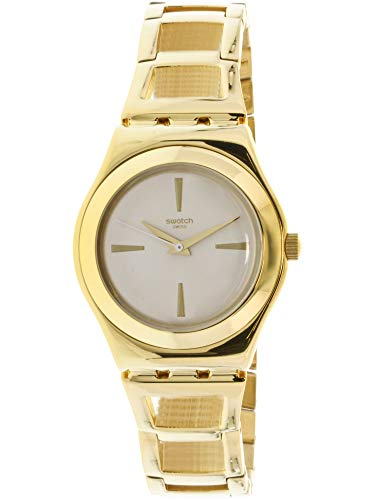 Swatch Women's Goldenli YLG134G Gold Stainless-Steel Swiss Quartz Fashion Watch