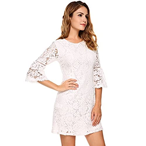 Womens White Dresses With Sleeves