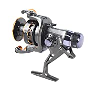 Whiteswan YUMOSHI Fishing Reel 10+1 Ball Bearings Front Rear Dual Brake System Metal Coil Bait Casting Fishing Reel for Outdoor Fishing