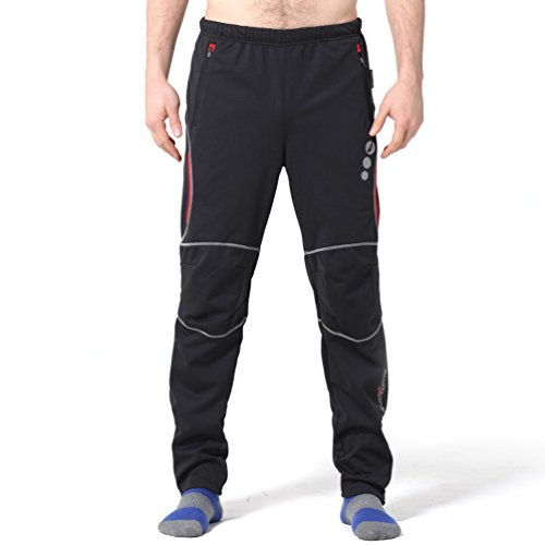 4ucycling men 39 s thermo sport pants fleeced black for cold. Black Bedroom Furniture Sets. Home Design Ideas