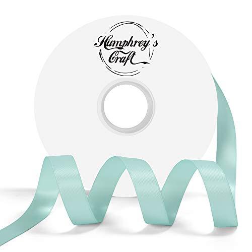 Humphrey's Craft 5/8-inch Double Face Solid Satin Ribbon 100% Polyester Ribbon Roll-50 Yard (Tiffany -