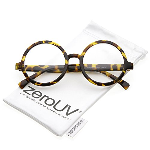 zeroUV - Retro Horn Rimmed Clear Lens Round Eyeglasses 52mm (Yellow Tortoise / - Warby Amazon Parker
