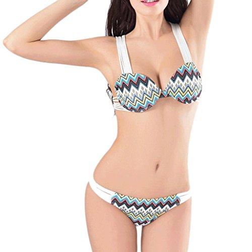 Traje de baño de las señoras Split bikini correas de impresión playa traje de baño Spa traje de baño Bikini Multi - color