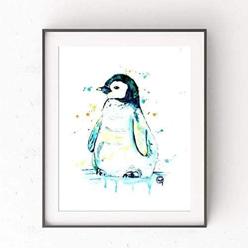Amazon.com: Penguin Baby Wall Art by Whitehouse Art